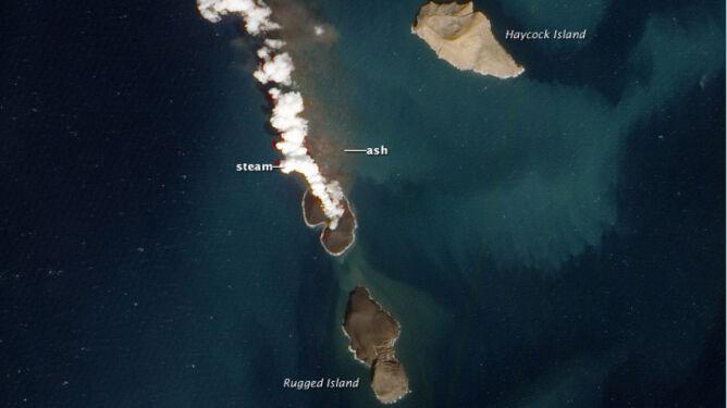 Wyspa powstała w trzy tygodnie. Zobacz nowy ląd