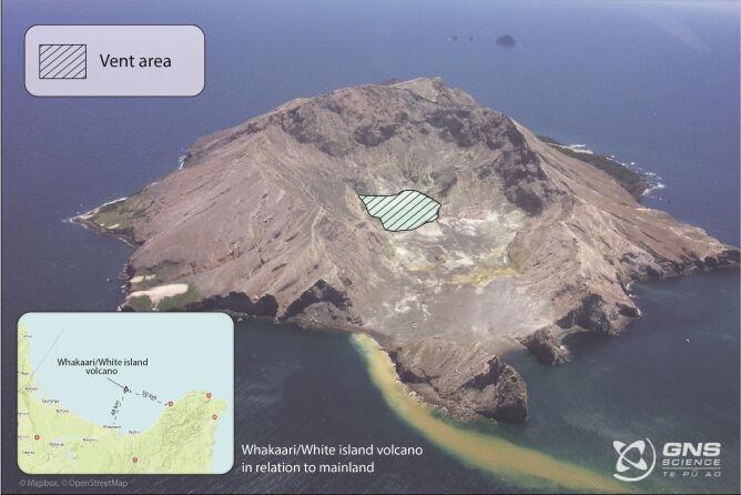 Służby monitorują wulkan-wyspę White GNS Science (CC 3.0 New Zealand License))