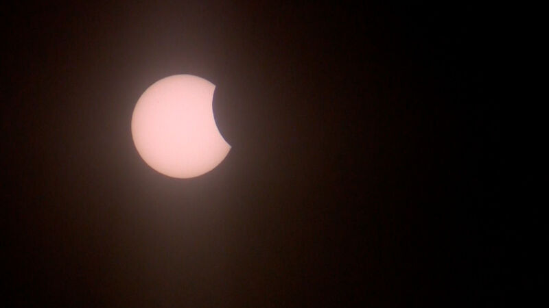 Zaćmienie Słońca w Toruniu