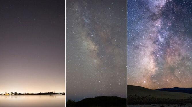 Światło niszczy piękno nocnego nieba. <br />Zobacz, jak bardzo