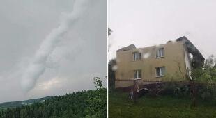 Trąba powietrzna w Małopolsce