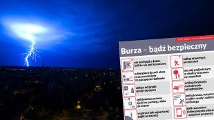 Sprawdź, jak być bezpiecznym podczas burzy