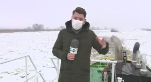 Relacja reportera TVN24 z akcji lodołamania na Odrze